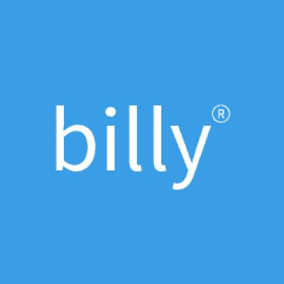 Billy logo blå baggrund